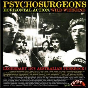 "PSYCHOSURGEONS - Horizontal Action / Wild Weekend 7"""
