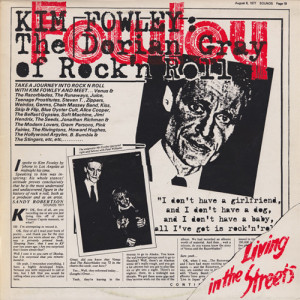 FOWLEY, KIM - Living in the Streets LP (Reissue)